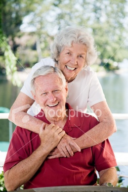 Happily Retired Couple Royalty Free Stock Photo