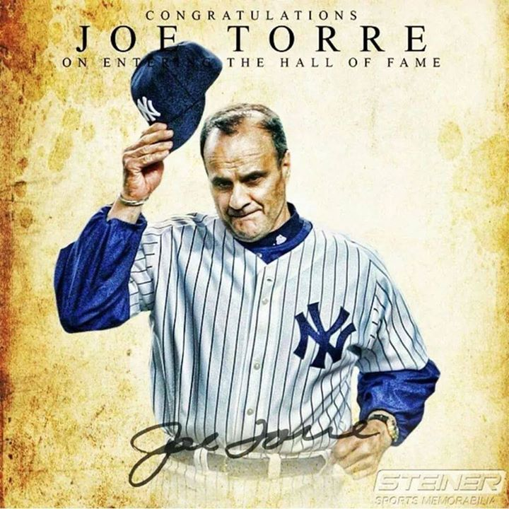 Joe Torre #6 He tips his hat in gratitude as we tip ours to him.