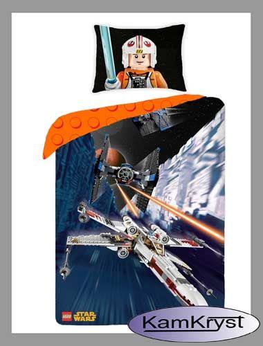 Pościel Lego Star Wars - pościel bawełniana dla najmłodszych fanów Star Wars - 160x200cm 100% bawełna #legostarwars