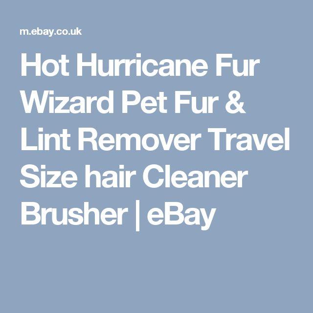 Hot Hurricane Fur Wizard Pet Fur & Lint Remover Travel Size hair Cleaner Brusher | eBay