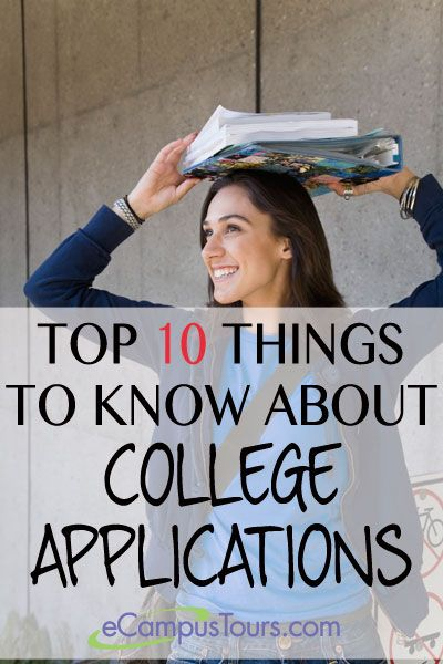 top 10 things to know about college applications #highschool #college #parent