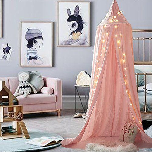 Girls Bed Canopy Reading Nook Tent Dome Mosquito Net Decor Pink