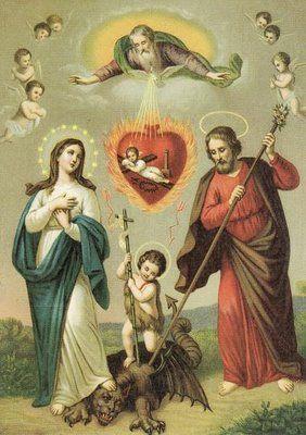 Holy Alliance Against SinReligious Images, Religious Art, Jesus, Holy Family, Holy Families, Holy Cards, Holy Alliance, Catholic Art, Art Sacred