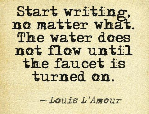 This is true for being creative in any area of endeavor.  Sometimes we just need to start.
