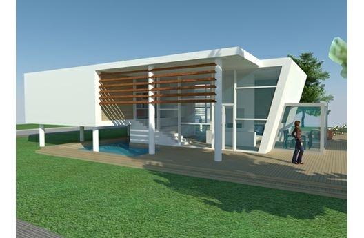 Plan 473-2 by Italian architect Lorenzo Spano: Beach Homes, Dreams Houses, Home Plans, Beaches Home, Garage, Modern Houses Plans, Modern Pools Houses, Bathroom Beaches, House Plans