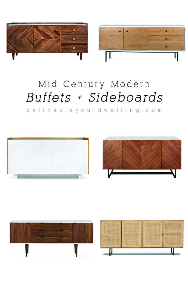 Six Amazing Dining Room Mid Century Modern Buffets And Sideboards Delineate Your Dwelling Dinin Mid Century Modern Buffet Modern Buffet Dining Room Sideboard