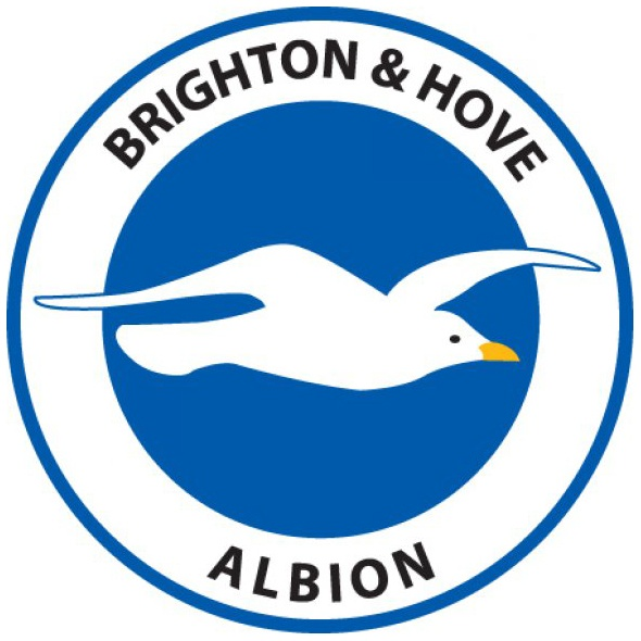 Brighton & Hove Albion FC crest/badge (black writing) #bhafc