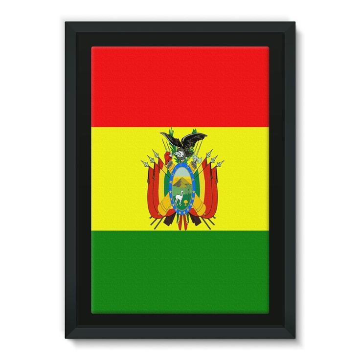 Flag of Bolivia Framed Eco-Canvas
