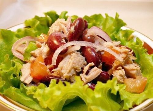 Салат с курицей и фасолью - Рецепты салатов из курицы с фасолью - Как