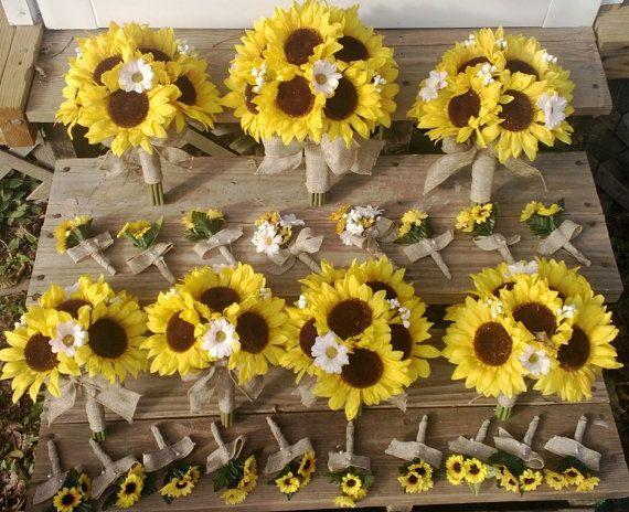Sunflower Bouquet Sunflower Bouquet Set by SilkFlowersByJean, $344.00