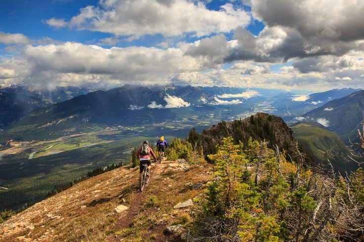 Mountain Biking in Golden, BC.