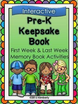 $3 Pre-K Keepsake Book (First Week-Last Week Activities)