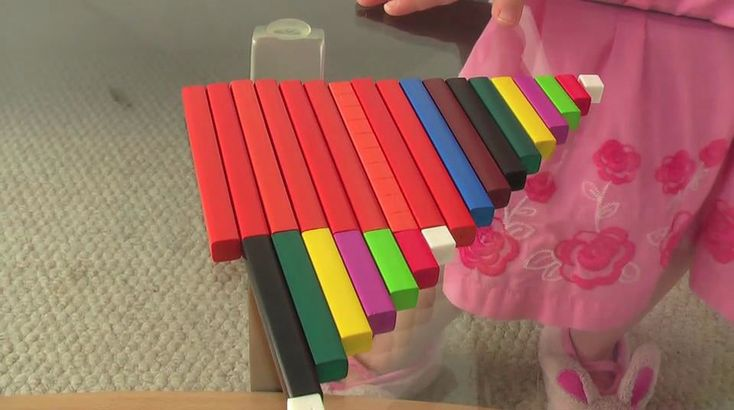 Introducing Teen Numbers with Cuisenaire Rods - Math Video