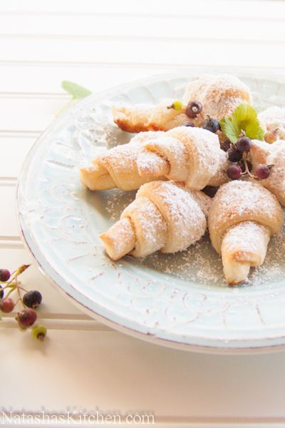 Russian Rugelach i.e. Mom's famous Rogaliki (guaranteed at every potluck and they always go fast!)