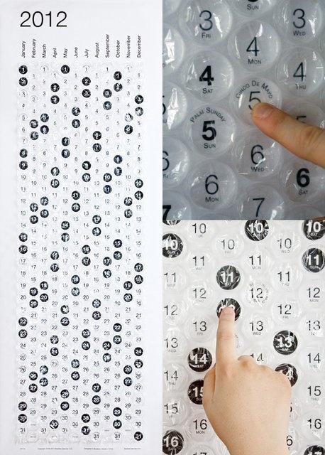 Bubble wrap calendar - too much fun!