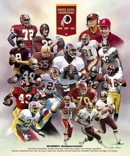 Washington Redskins Hog Heaven II (20 Legends, 3 Championships) Art Poster Print
