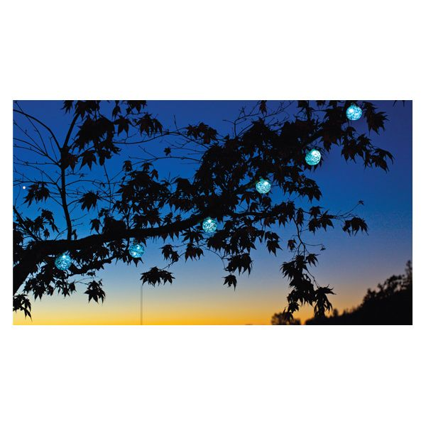 Aurora Glow String Lights by Allsop Home & Garden  Light up the night with hand-blown, solar-powered Aurora Glow String Lights. The small solar panel absorbs daylight so outdoors spaces can radiate with eco-friendly luminosity at dusk.  www.allsopgarden.com