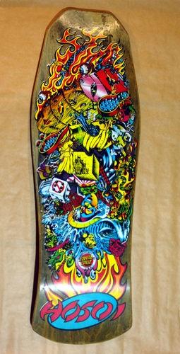 Christian Hosoi Santa Cruz Hammerhead Collage Skateboard Deck Vintage 1988 | eBay