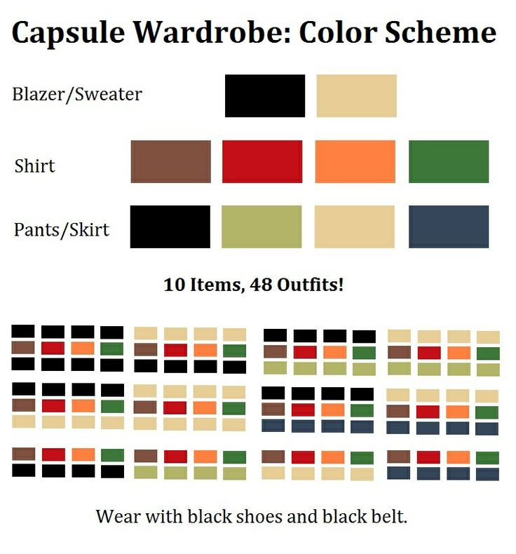 Capsule Wardrobe: Perfect Mix Match Color Scheme! For creating a minimalist  capsule wardrobe with