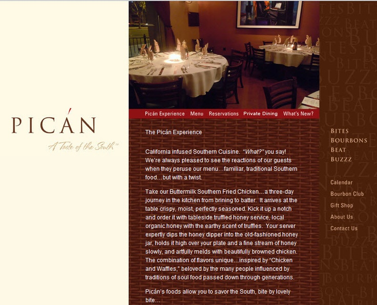 Pican in Oakland (Broadway) is absolutely amazing. So hard to find good southern food in a beautiful (safe) atmosphere. Love this place!!  http://www.picanrestaurant.com/pican_experience.php