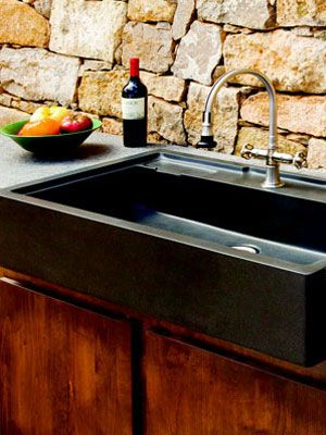 This #outdoor #sink is perfect for your backyard parties! #decorBackyards Parties, Decorating Ideas, Backyard Parties, Backyards Ideas, Outdoor Sinks Double, Beer Coolers, Granite Sinks, Backyards Creations, Andy Saine