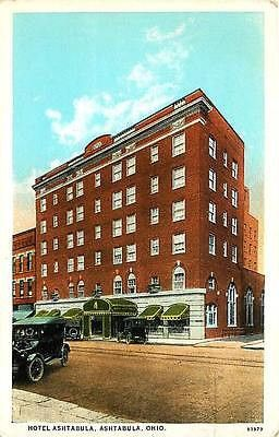 Ashtabula Ohio Oh 1921 Hotel Antique Vintage Advertising Postcard