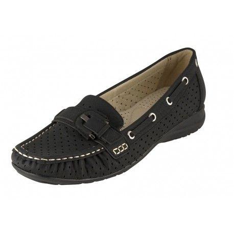 Γυναικείο μοκασίνι B-Soft-Μοντέλο 12093-2 σε μαύρο και μπεζ χρώμα. Τιμή: 35 Ευρώ