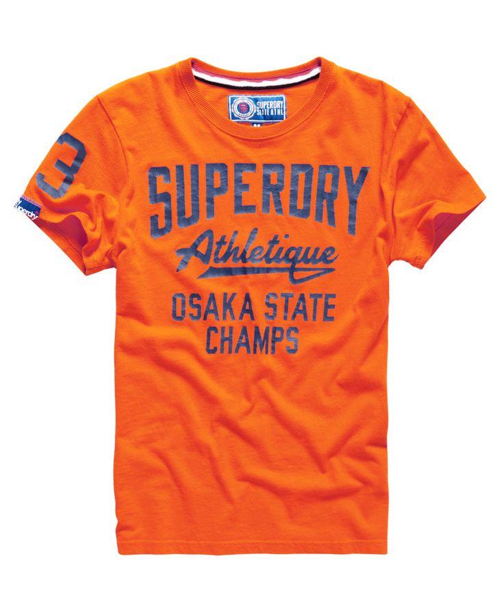 Mens - Trackster T-shirt in Denver Orange | Superdry