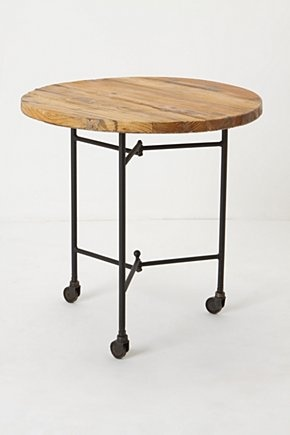 Industrial style side table. #home #furniture