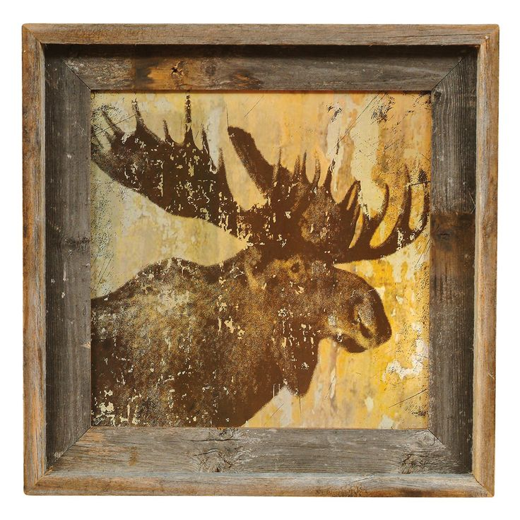 Moose Lodge Barnwood Framed Print
