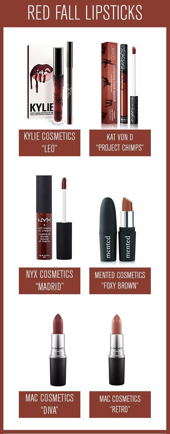 Fall lipstick favorites: The Reds, Kylie leo lip kit, kylie leo, kat von d project chimps, nyx madrid, nyx soft matte lip cream madrid, mac diva, mac retro, mented cosmetics foxy brown, mented foxy brown, fall lipsticks