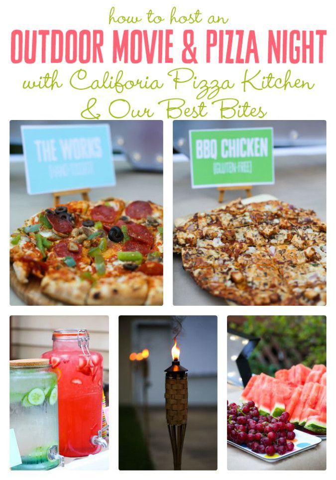 How to host an outdoor movie and pizza night! Funnest. Party. Ever.