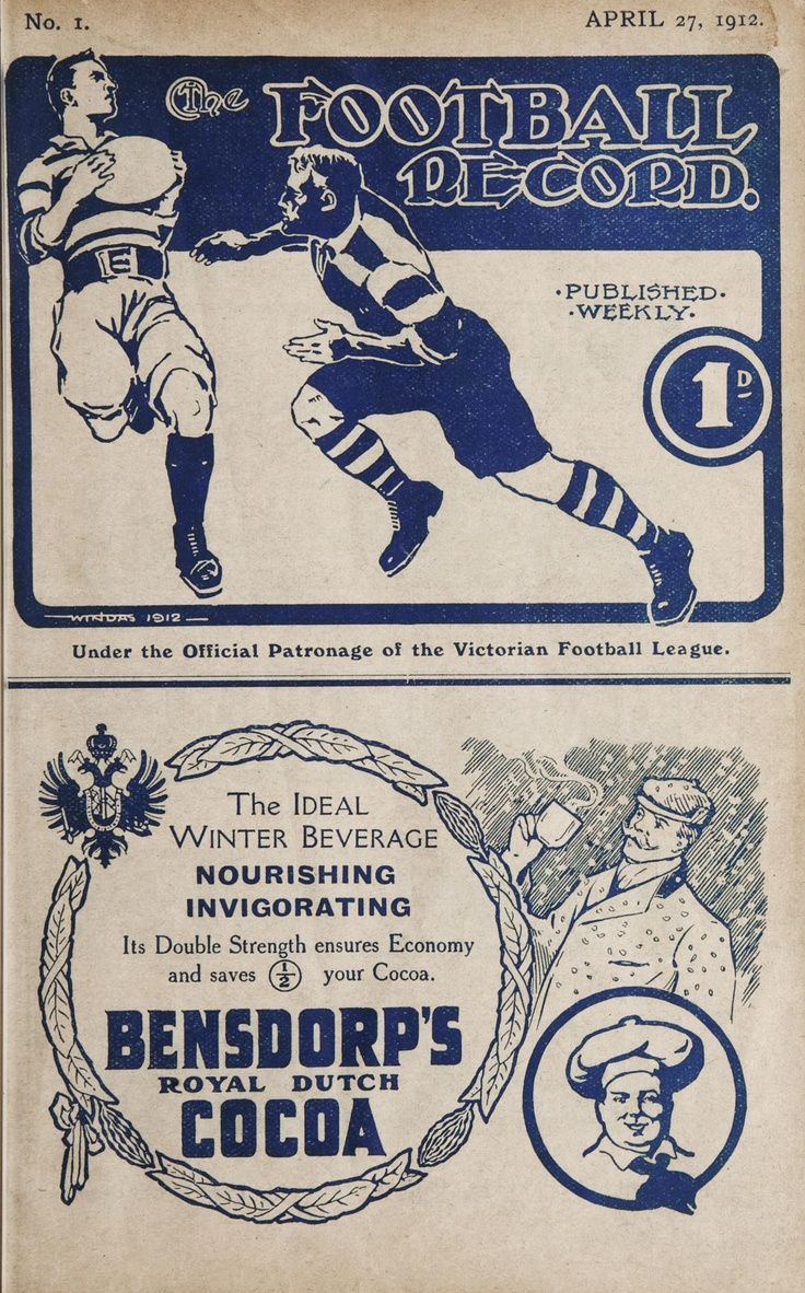 1912 the first footy record