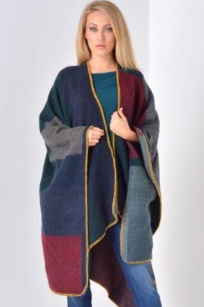 Amy Check Blanket Wrap