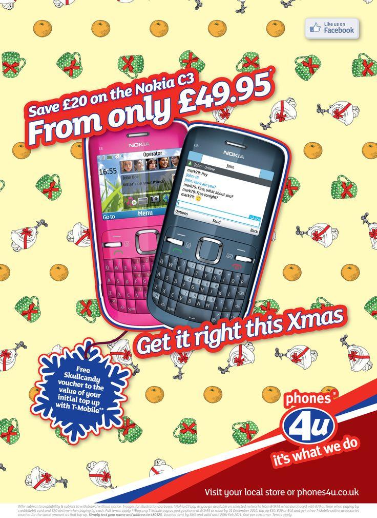Phones 4 U Xmas Wrapping Paper Orange