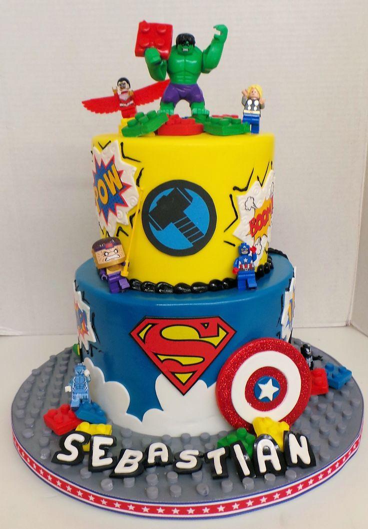 Super Heros Birthday Celebration Cakes In 2019
