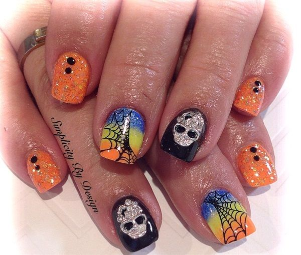 1000+ images about Halloween Nail Art on Pinterest | Nail art ...