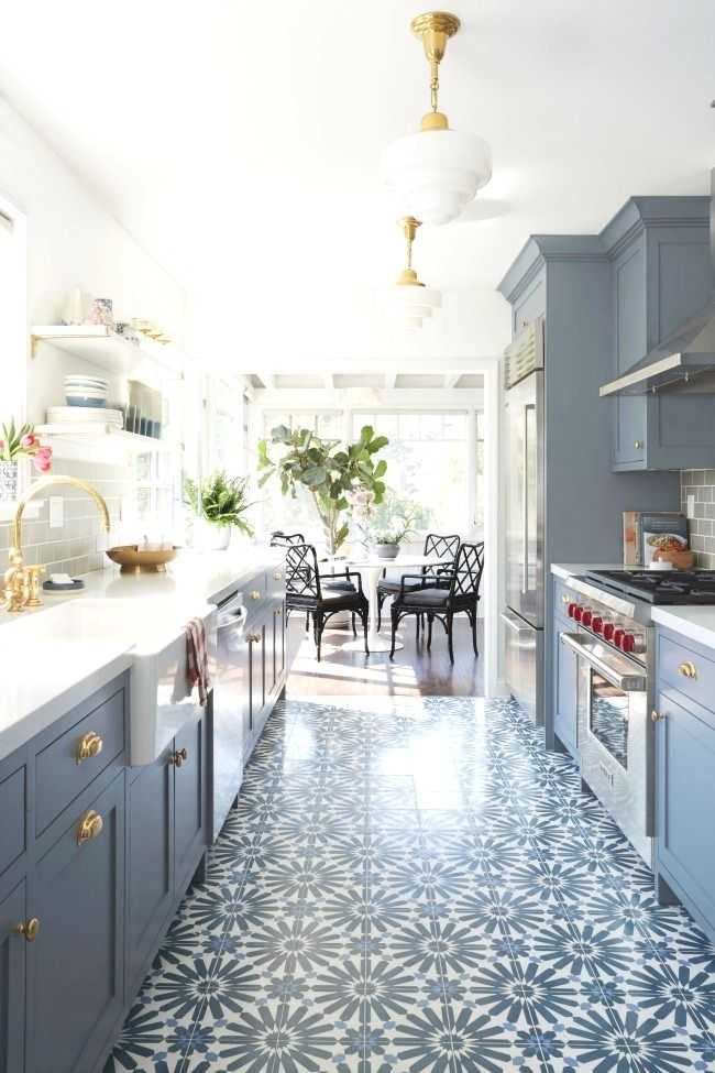 Latest Kitchen Floor Ideas Adorable You Will Find 12 Gorgeous Blue Kitchen Ideas Right Here And 9198 8