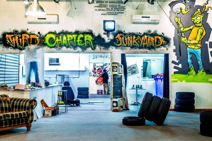 Third Chapter Junkyard warehouse party
