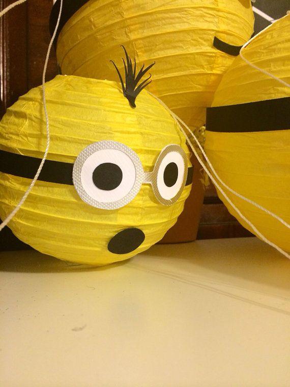 Minion lanterns / decorations by YrsYpartydecor on Etsy