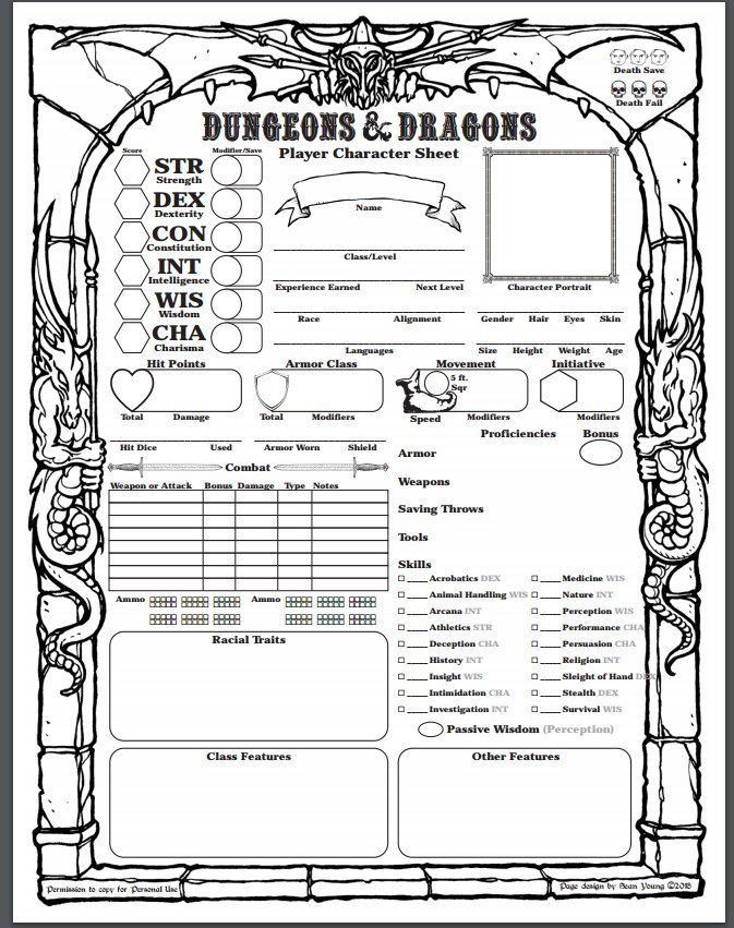 photo regarding Pathfinder Character Sheets Printable known as Demarch of Mask 💖💛💙 upon 5e individuality sheets inside of 2019