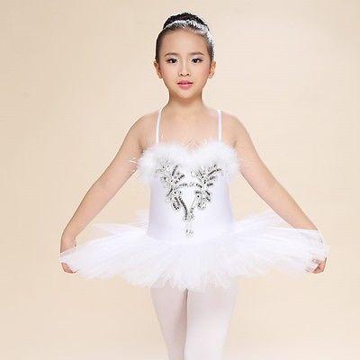 Mädchen Kinder Schwanensee Tanzbekleidung Ballett Tutu Trikot 6 Größen in Sport, Weitere Sportarten, Tanzen | eBay