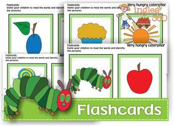 Free - The very hungry caterpillar flashcards