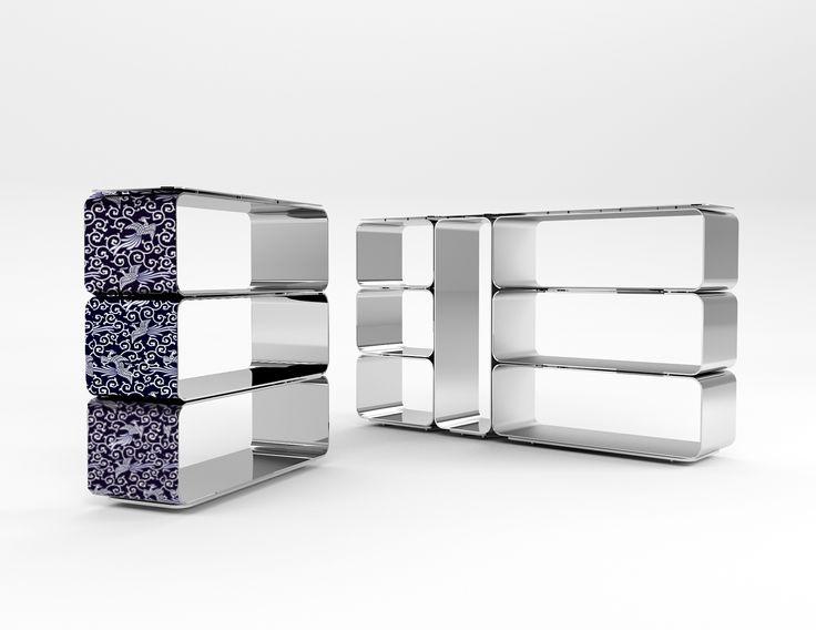 #brera bookcase, design by Marco Piva for #altreforme, #district collection #interior #home #decor #homedecor #furniture #aluminium