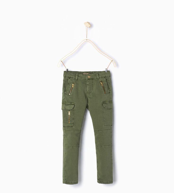 pantalones cargo zara niño