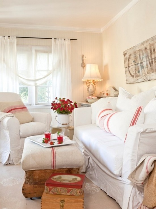 I Love This Red And White Living Room (from Tumbleweed And Dandelion On  Houzz)