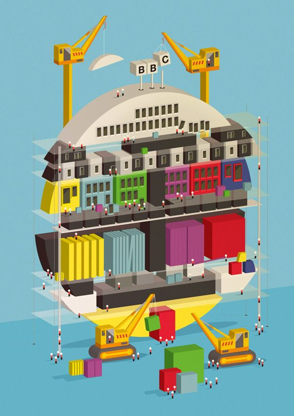 BBC by Neil Stevens, via Behance
