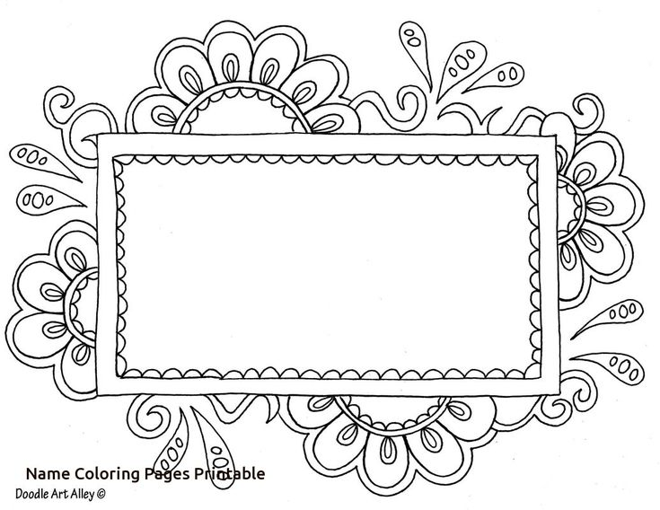 Printable Calendar Doodle Art Alley : Name templates coloring pages doodle art alley with