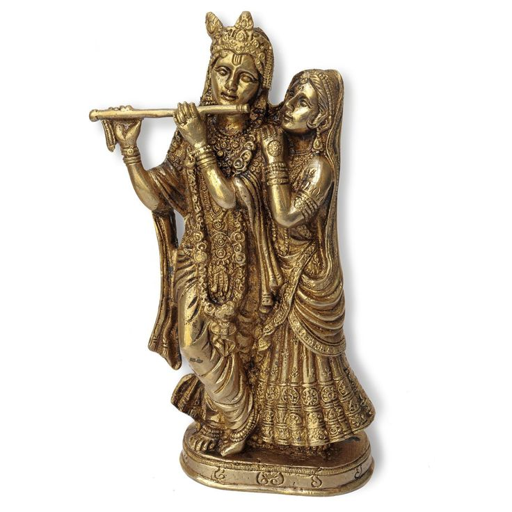 Standing Statue of Love God Radha and Krishna: Amazon.co.uk: Kitchen & Home