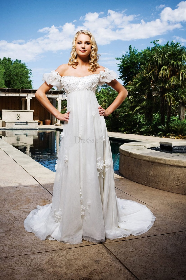 The 49 best images about wedding dresses on pinterest cute wedding dress with modest empire waistline and off the shoulder sleeve ombrellifo Image collections